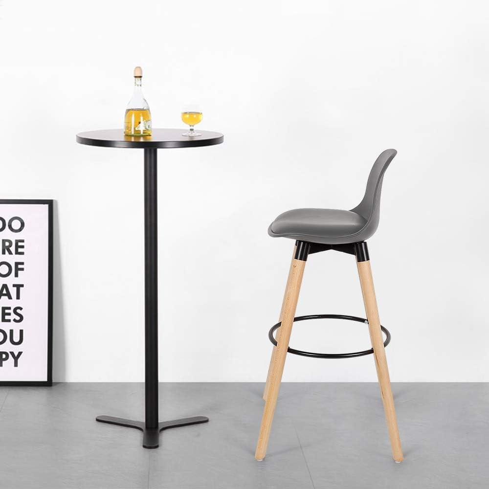 Bianco, 2 YIFAA Sgabelli da Bar Set di 2 per Cucina Scandinavo 39.5x44x91cm Bar per la Colazione Bancone Sgabelli da Bar di Casa