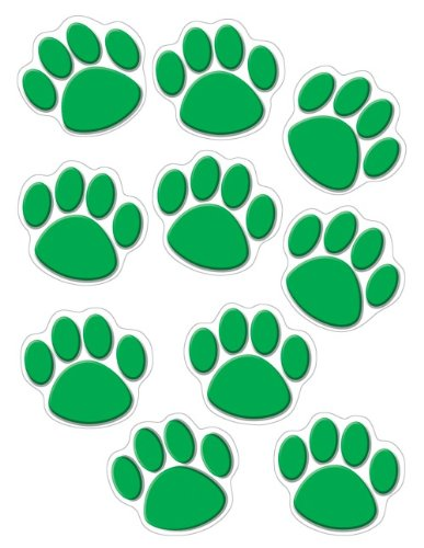 Teacher Created Resources Green Paw Print Accents (4387)