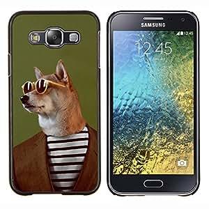 - Funny Dog Head - - Cubierta del caso de impacto con el patr??n Art Designs FOR Samsung Galaxy E5 E500 Queen Pattern