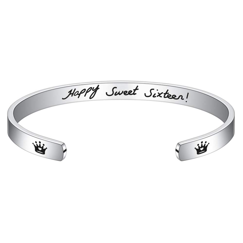 Inspirational Engraved Funny Quote Cuff Bangle Bracelets Jewelry Friendship Gifts for Her 16th 30th 40th 50th 60th 70th 80th Birthday Gifts Hidepoo Birthday Gifts for Women