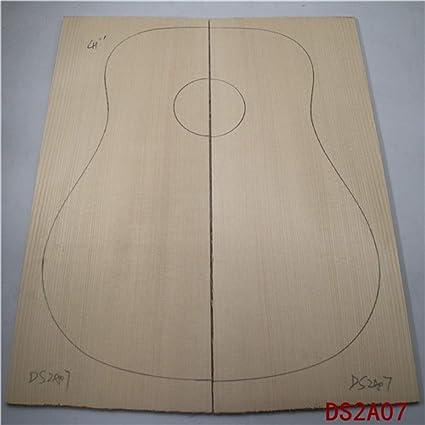 AA - Guitarra de madera de abeto de alta calidad con parte superior chapada completa, panel de