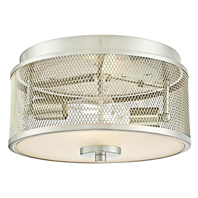 Westinghouse 6327500 Morrison Indoor Chandelier, Brushed Nickel Finish with Mesh Shades, Five Light