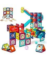 VATOS klocki magnetyczne 125 szt. Duża budowa macierzystych klocków budowlanych zestaw zabawek montessori dla dzieci od 3 4 5 6 7 8 lat, zabawki edukacyjne dla dziewczynek chłopcy prezent