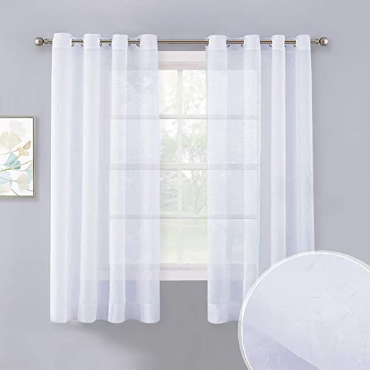 30 x 84 Sheer Curtains Kess InHouse Jane Smith Purrfect Black White Decorative Set