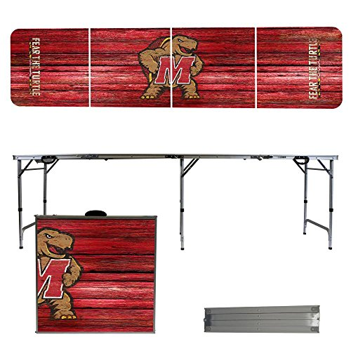 NCAA Maryland Terrapins Weathered Version 8-Feet Portable Folding Tailgate (Ncaa Maryland Terrapins Sports Table)