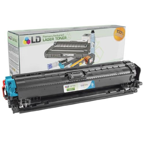 LD Remanufactured Toner Cartridge Replacement for HP 307A CE741A (Cyan) (307a Cartridge)