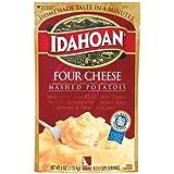 Idahoan Mashed Potatoes Four Cheese, 4 OZ (Pack of 12)