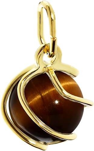 Nklaus Pendentif Boule Sphère 333 Or Jaune Or Véritable Oeil De Tigre 7mm Pendentif Dames 7773 Amazon Fr Bijoux