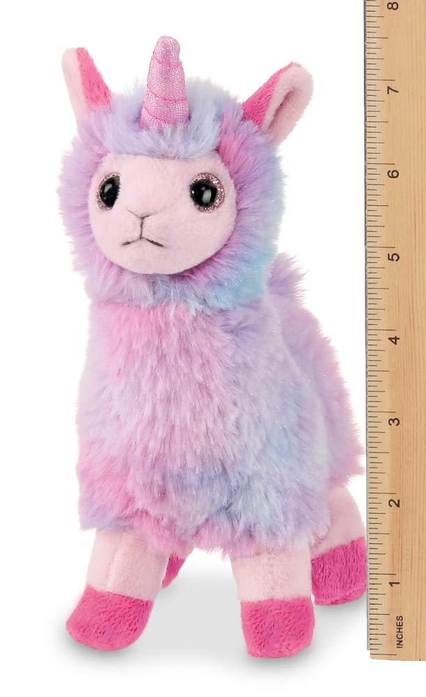 7 Inches Bearington Lil Luna Llamacorn Rainbow Llama with Unicorn Horn
