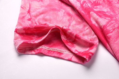 Loose City Women's Shirt Tunic Tie T Dye Dresses Casual Zero Pink 6Xdxq6