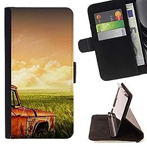 Jordan Colourful Shop - Grass Fields Retro For Apple Iphone 6 PLUS 5.5 - Leather Case Absorci???¡¯???€????€?????????&Atild