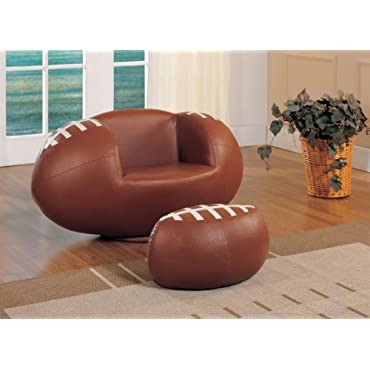 Acme 05526 2-Piece All Star Football Chair and Ottoman Set