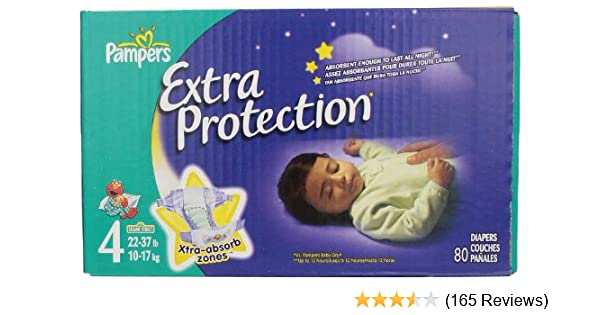 Amazon.com: Pampers Extra Protection Diapers Size 4 Super Pack 80 Count: Health & Personal Care
