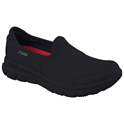 Skechers for Work Women's Sure Track Slip Resistant Shoe, Black,: Shoes