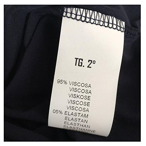blu donna modello IN 5 viscosa 46 abito ITALY ADA 48 MADE jersey elastan MOUSSE 95 2 qfxwtA5yI