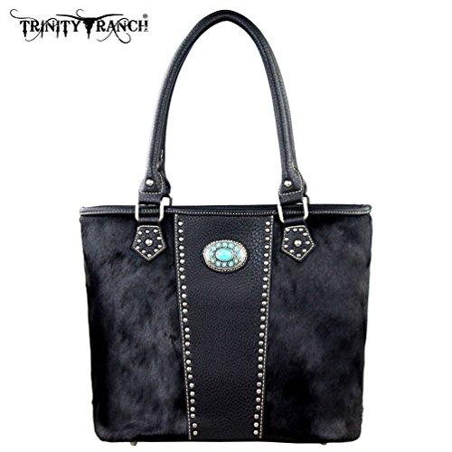 tr17-8317-trinity-ranch-cowhide-collection-handbag-black
