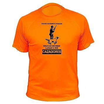 Camisetas Personalizadas de Caza, Todos nacemos Iguales, Cazador - Ideas Regalos: Amazon.es: Deportes y aire libre