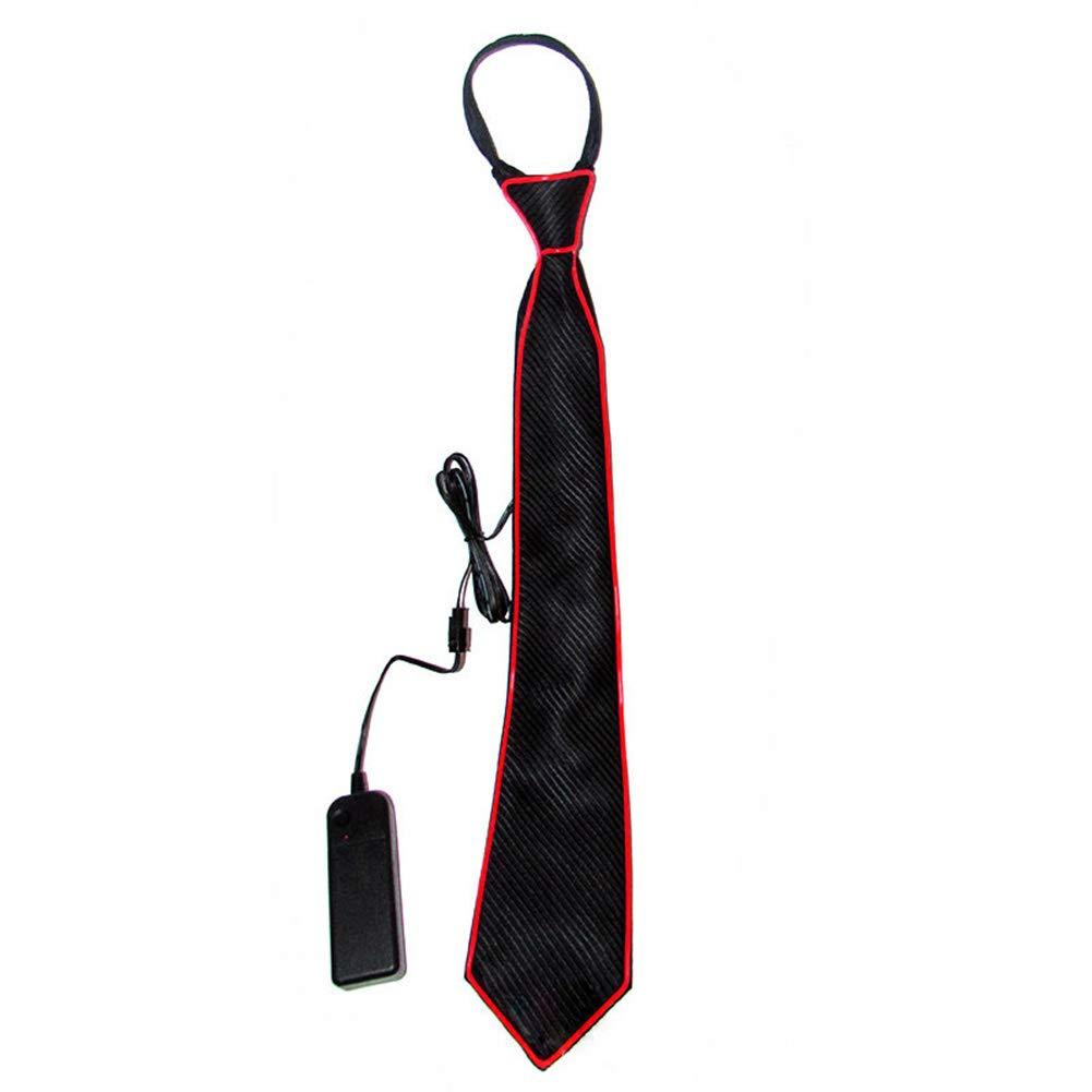 Glaray novit/à Luminoso Cravatta Accendi LED Cravatta Regolabile El Wire Cravatte incandescente Rosa