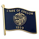 PinMart's Oregon US State Flag OR Enamel Lapel Pin 1""