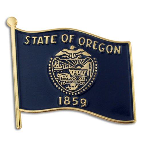 "PinMart's Oregon US State Flag OR Enamel Lapel Pin 1"""