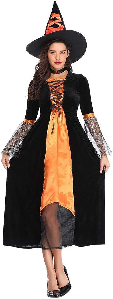 Disfraces de Juego de rol, Vestidos de Bruja Negra con Sombrero ...