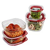 Rubbermaid Easy Find Lids 8-Piece Glass Food Storage Container Set