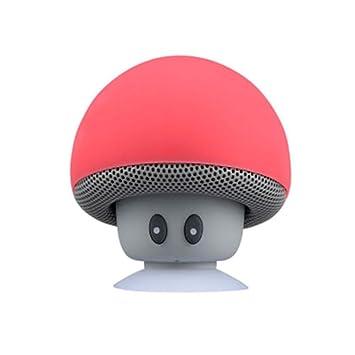6d2d33b63b53c Lautsprecher, Mini Wireless Drahtloser Tragbarer Stereo Bluetooth  Lautsprecher Pilzes Design mit Saugnapf Handfrei Mikrofon Wasserdicht