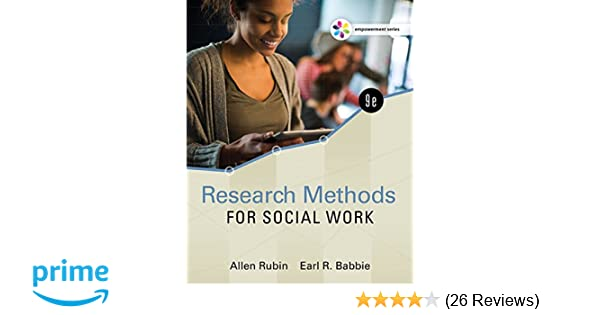 Empowerment Series Research Methods For Social Work Allen