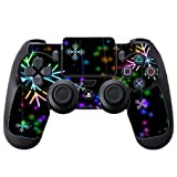 Neon Snowflakes Snowflake PS4 DualShock4 Controller Vinyl Decal Sticker Skin by Moonlight Printing