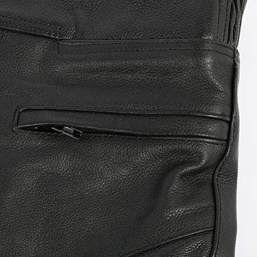 Rindsleder mit entfernbaren CE-Protektoren W32 L32 Texpeed Damen Motorradhose EU40