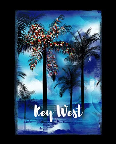 Key West: Florida Christmas Journal Notebook Shopping Organizer Holiday Food Meal Party Planner Budget Expense Tracker. Tropical Palm Tree Soft Cover 7.5 x 9.25, 120 Pages. (West Beach Palm Shopping)