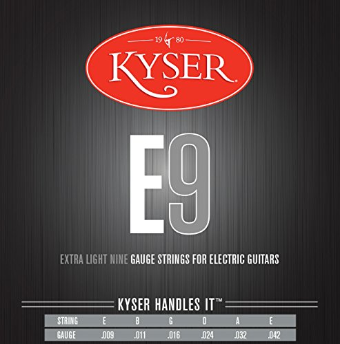 Kyser KE1 Electric Guitar String, Set of 6 Pieces