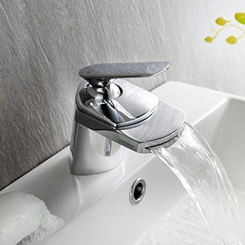 浴室の蛇口高品質現代滝クローム洗面台シンクミキサー蛇口蛇口浴室レバー蛇口