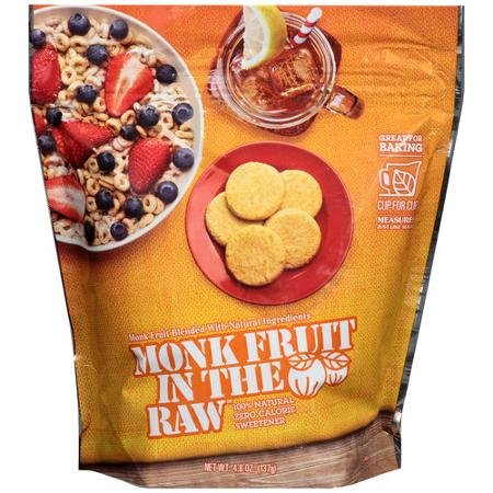 Monk Fruit In The Raw Sweetener, 4.8 Ounce Bag