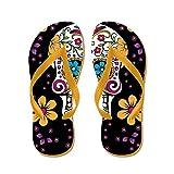 CafePress Sugar Skull Black - Flip Flops, Funny Thong Sandals, Beach Sandals