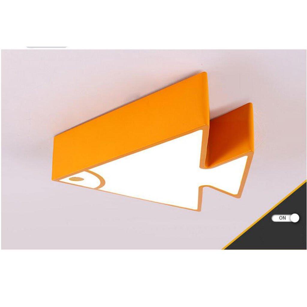 天井の光トロピカルフィッシュの子供の寝室の少女現代の漫画の部屋の幼稚園教室の照明 ( Color : Yellow , Size : A ) B07C9DQRTH  Yellow A