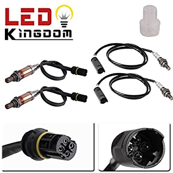 Ledkingdomus 4pcs O2 Oxygen Sensor Upstream Downstream For Bmw E39