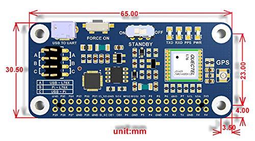 ALLPARTZ L76X Multi-GNSS HAT GPS BDS QZSS Module with GPS External Antenna  for Raspberry Pi