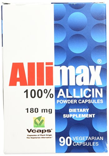 Allimax International Limited Allimax Vegicaps, 180 mg, 90 Count