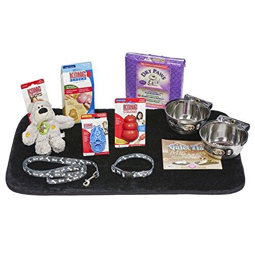 (Puppy Starter Kit for Medium Dog Breeds, Kit includes: Kong Classic Toys & Treats | Coastal Dog Leash & Collar | MidWest Dog Bowls, Dog Bed & Training Pads)