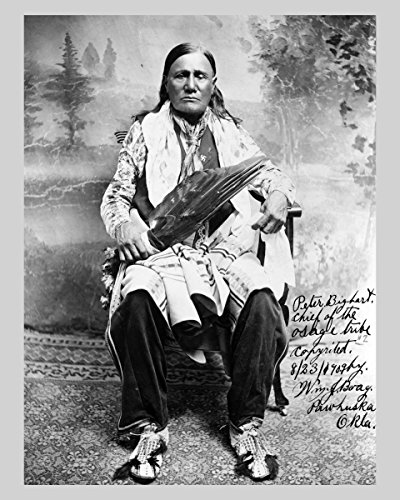 Photo Print 8x10: Peter Bighart Sic, Chief Of The Osage Tribe, - Osage Pictures