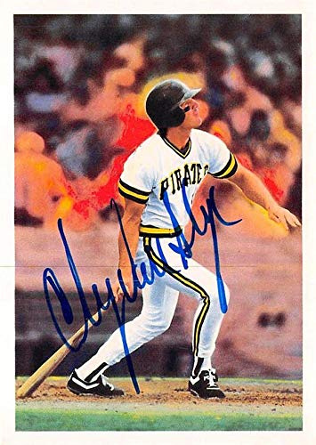 1990 Score Autographed Card - Andy Van Slyke autographed baseball card (Pittsburgh Pirates) 1990 Score #38 Scoremasters - Baseball Slabbed Autographed Cards