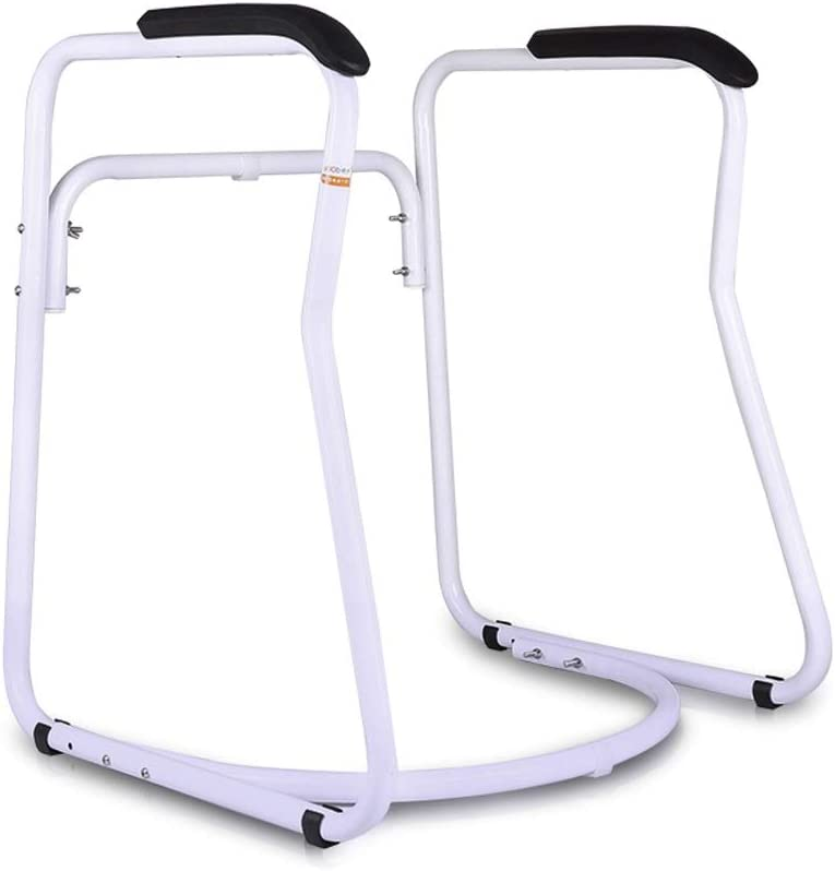Adjustable Toilet Surround Frame, Bathroom Safety Assist Rail Grab Bar with Anti-Slip Handrail, for Elderly Senior Handicap Disabled Toilet Seat (Color : PU handrails)
