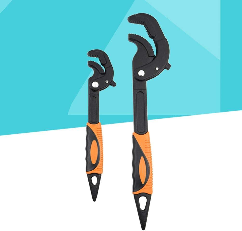 Orange ULTECHNOVO Cl/é /à Tuyau Douverture 2 Pi/èces Pince Multiprise /à Pompe /à Eau Autobloquante R/églable pour M/âchoire en V pour Climatiseur Maison Voiture R/éparation de Tuyaux 14-60Mm Noir