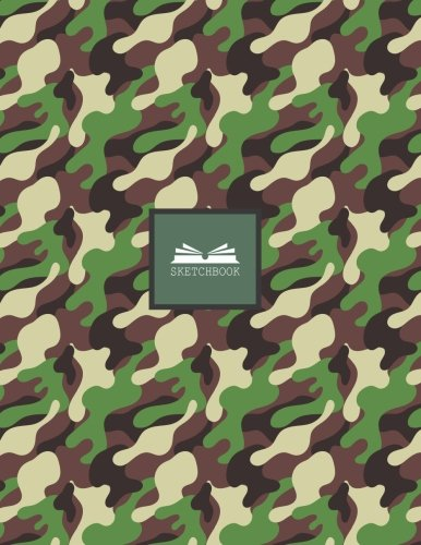 Sketch book: Camouflage cover (8.5 x 11)  inches 110 pages, Blank Unlined Paper for Sketching, Drawing , Whiting , Journaling & Doodling (Camouflage sketchbook,) (Volume 38) ()