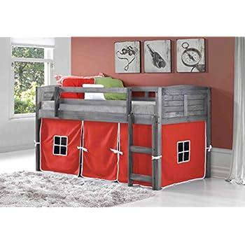 Amazon Com Custom Kids Furniture Grey Twin Loft Beds With