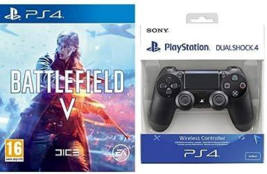 Battlefield 5 & Sony - Dualshock 4 V2 Mando Inalámbrico, Color Negro V2 (PS4): Amazon.es: Videojuegos