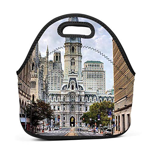 (KAKAKAA Washington Boulevard Office Picnic Travel Lunch Bag Waterproof And Durable Lunch Travel Lunch Bag)