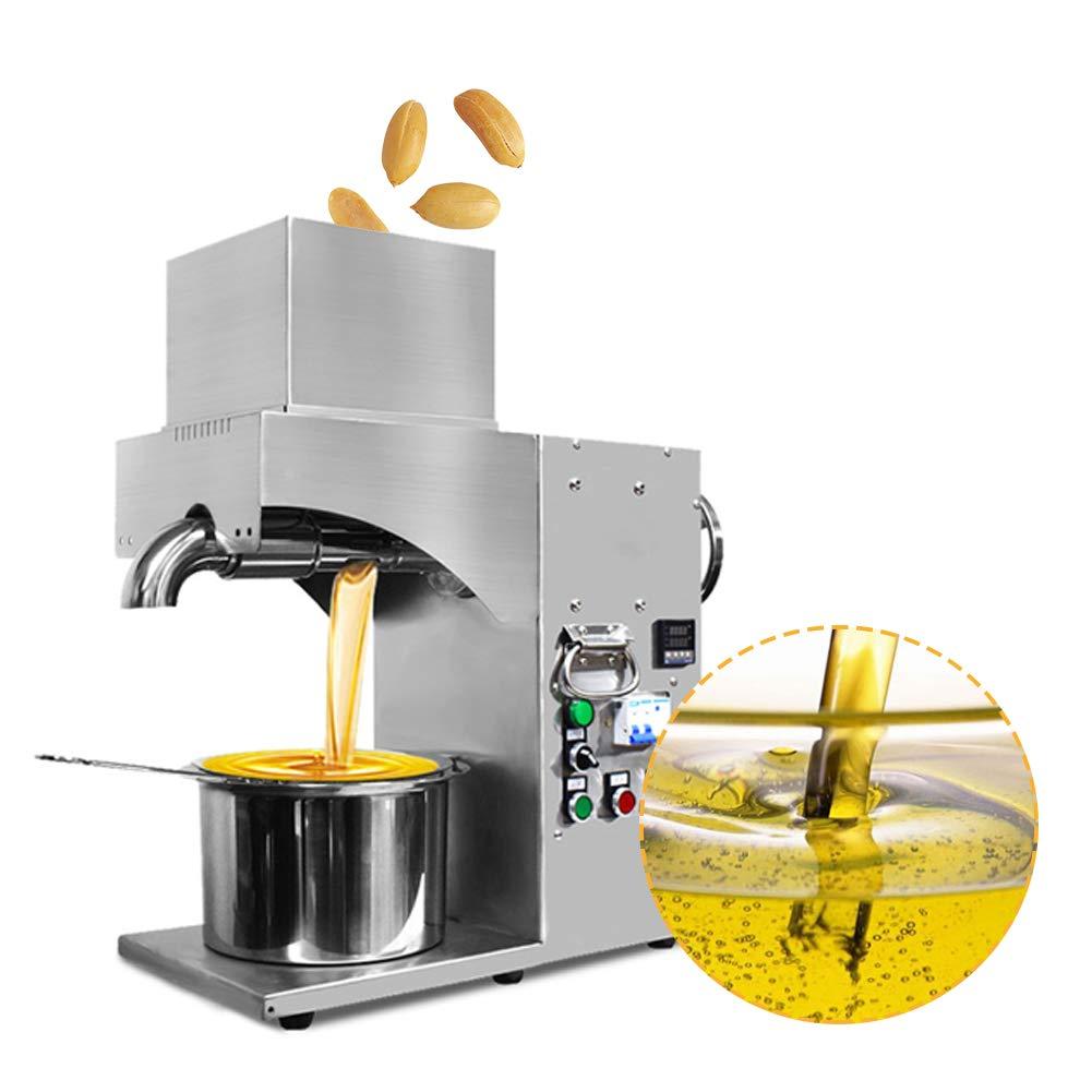 RAAKIMO 油絞り機 一番搾り 業務用 高効率 110V/1500W 米/ナッツの実/大豆/野菜の種など20種天然オイル原料搾る可能   B07KR264VY