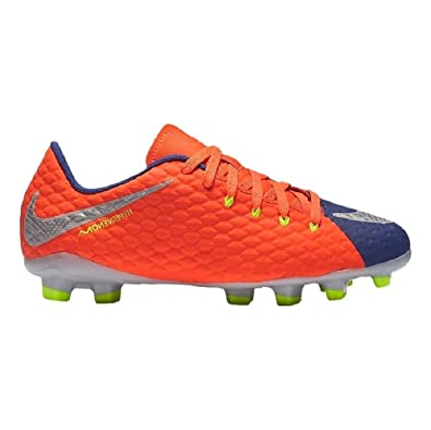 sale retailer f55e0 b6443 Nike Youth Hypervenom Phelon III FG Orange